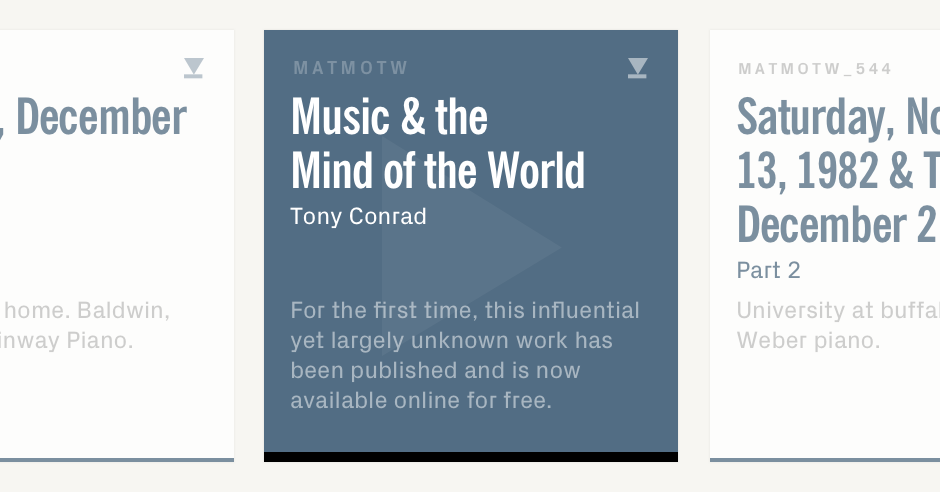 Music and the mind of the world